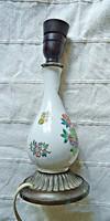 Régi Herendi Viktória mintás porcelán és bronz lámpa