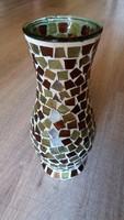 Mozaik váza, üveg 20cm