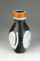 0R415 Régi hibátlan Gorka Lívia kerámia váza 19 cm