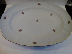 Herendi húsostál apró virágmintával, 38 x 28 cm