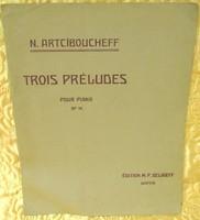 KOTTA/N.Artciboucheff-Trois Préludes