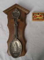 Díszkanál  - 1997. Évszámozott ón  keményfa tartóval, 23 x 12 cm - Német