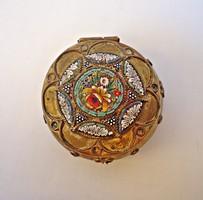 Mikromozaikos apró bronz doboz