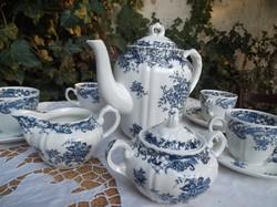 Kávéskészlet - porcelán - VILLEROY&BOCH  12 db  Valeria blau - gyönyörű