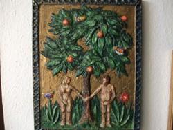 ÁDÁM és ÉVA- falikép