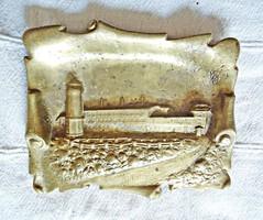 Osztrák, jelzett bronz névjegykártya tartó