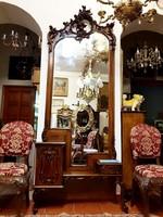 Antik bécsi-barokk kastély tükör