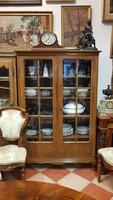 Chippendale stílusú antik vitrines könyvszekrény