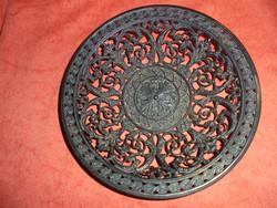 Áttört szélű öntött vas fali tányér 19.századi (Munkácsi?)