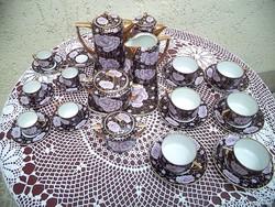 Csodálatos karlsbadi 30 db-os art deco kávé  + tea készlet Jelzett Cseh