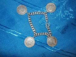Ezüst karkötő ezüst 1 koronásokkal