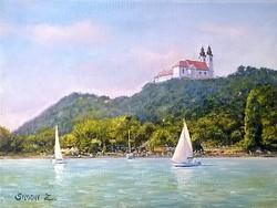 Simon Zoltán festmény - Tihany - olaj, vászon