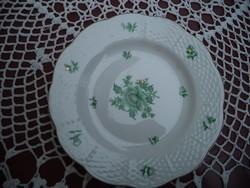 Herendi nanking zöld mintás süteményes tányér pótlásnak