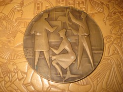 Retro emlék plakett  bronz és ezüst  fokozat  ,tervezte Vince Dénes