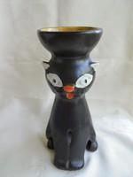 Iaprművészeti kerámia macska figura