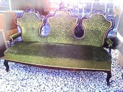 Fantasztikus formájú, neobarokk, antik kanapé