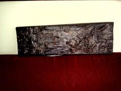 Jelenetes faragott kép, falikép - faragás