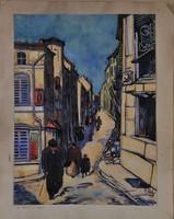 Ismeretlen művész: Utcakép, 1918