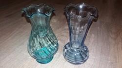 2db üveg kis váza 15cm magasságúak