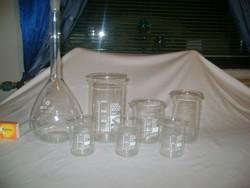 Üveg mérőedény - hét darab