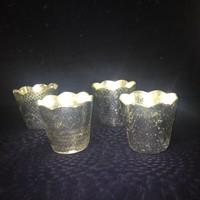 Brutál nehéz ezüstözött kaspók/ünnepi vázák külön-külön vagy egyben