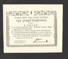 Egy pengő krajczárra 1849. Julius 16. UNC!!