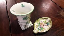 Herendi porcelán hamuzó és váza
