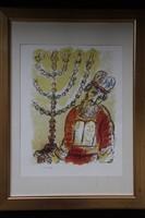 Marc Chagall - Exodus Áron a Menórával