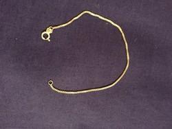 Ezüst, 17,5 cm, karkötő, jelzett venezianer (NB)