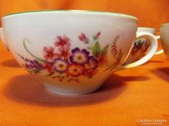 5 db régi Hollóházi teás csésze, csészék