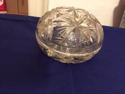 Nagyon nagy csiszolt ólomkristály bonbonier - big cut crystal glass bonboniere (NB)