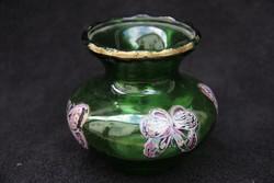 Zöld üveg váza