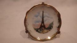 Régi LIMOGES porcelán emléktárgy Eiffel torony