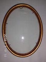 Ovális,képkeret,tükörkeret üveggel 21x27 cm