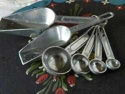 Régi cukrász mérce garnitúra, gyűjtői