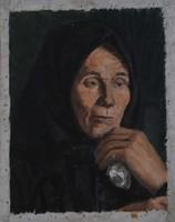 Ismeretlen művész: Öregasszony portré
