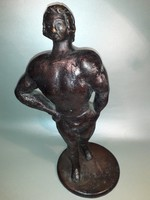 Herczeg Kis Béla - Toldi - bronzírozott spiáter szobor