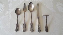 Berndorf ezüstözött gyerek evőeszközök