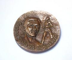 """Iharos Sándor emlékérem,""""A Bp. Honvéd SE örökemlékű atlétája"""""""