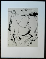 BURAI ISTVÁN /1951-2017/ festő, garfikusművész expresszív tusrajza