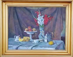 Bánovszky Miklós / Asztali csendélet kardvirággal