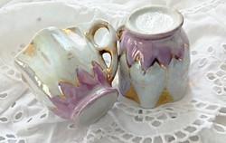 Régi lüsztermázas pici csészék párban