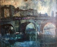 Diener Dénes Rudolf (?) olajfestmény - Párizsi híd