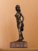 KEDVEZŐ ÁR! Babusa János - Pillangó c.mű bronzszobra, EREDETISÉG IGAZOLÁS, VISSZAVÁSÁRLÁSI GARANCIA!