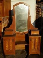 1900-as évek eleji szecessziós fa fésülködő asztal