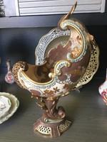 Zsolnay-Fischer Budapest nagymeretű impozáns antik disztárgy,asztalközép