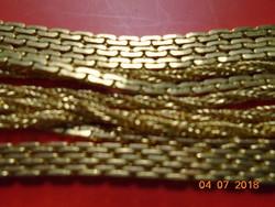 3 soros aranyozott hosszú nyaklánc-80 cm