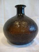 Zsugor felületű régi üveg váza
