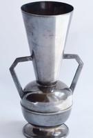 Ezüst füles váza patinás szín