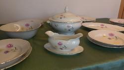 Gyönyörű elegáns porcelán német Kahla étkészlet, teás, kávés